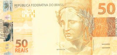A foto mostra uma cédula de R$ 50 reais uma tentação para as compras de fim de ano.