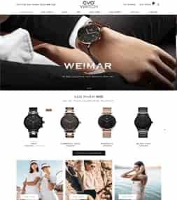 Template blogspot bán hàng Đồng hồ Evo Watch