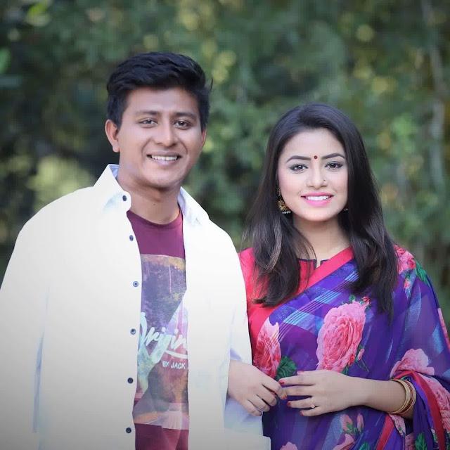 Tasnuva Tisha with Shamim Hasan Sarkar