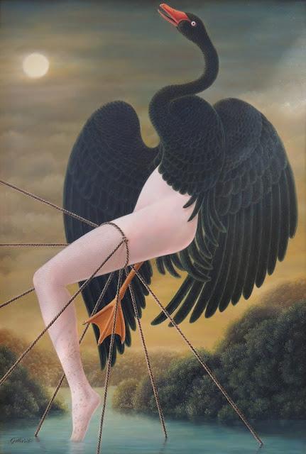 Gervasio Gallardo surrealist painting swan Leda