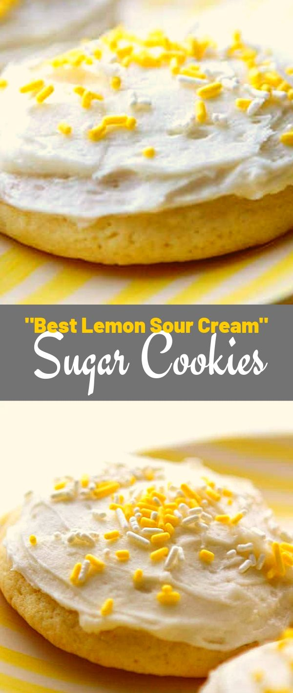 Best Lemon Sour Cream Sugar Cookies #Best #Lemon #Sour #Cream #Sugar #Cookies Cookie Recipes Chocolate Chip, Cookie Recipes Easy, Cookie Recipes Christmas, Cookie Recipes Keto, Cookie Recipes From Scratch