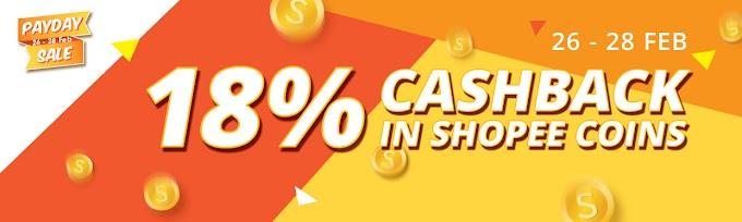 Kempen Hari Gaji Shopee dan Nikmati Pulangan Tunai Sebanyak 18%