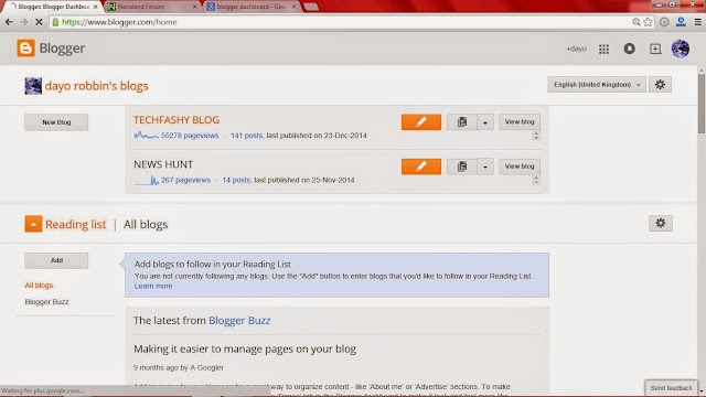 How To Access Blogger dashboard With Operamini Browser