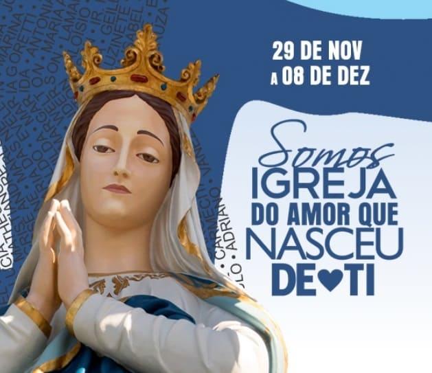 Banner de divulgação da Festa de Nossa Senhora da Conceição