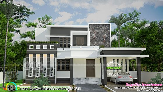 Grand sober colored contemporary house