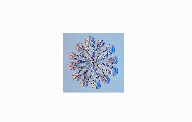Salju Bentuk Sided Snowflakes