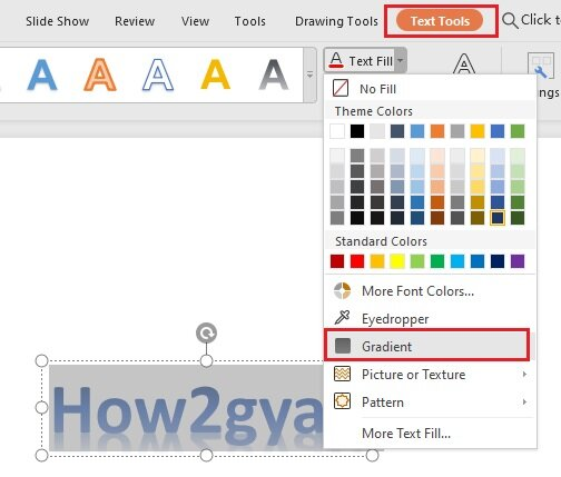 How to use gradient fill in WPS Office