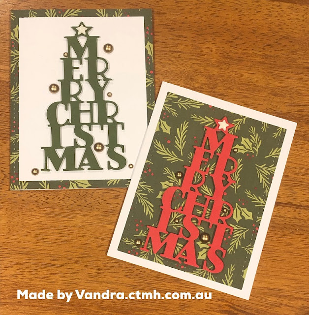 #CTMHVandra, Colour dare, TicTacToe, #ctmhComfortandJoy, Christmas, Christmas tree, Merry Christmas, Gold, star, cardmaking, color dare, Colour Dare Challenge, 3D Foam, bauble, bling, stitched thin cuts, Stitched frame,
