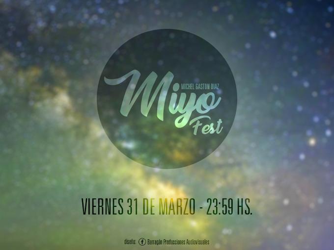 """Flyer para la """"Miyo Fest"""""""