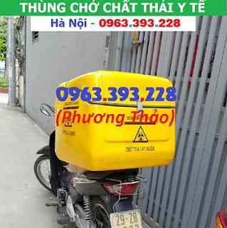 Cung cấp Thùng chở chất thải y tế sau xe máy tại Hà Nội