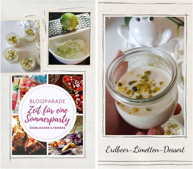 Rezept Erdbeer-Limetten-Dessert für Sommerparty