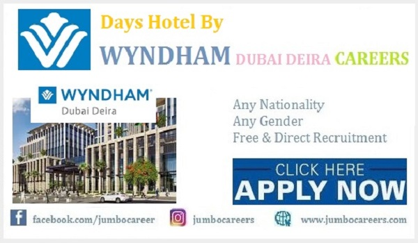Days Hotel by Wyndham Dubai Jobs and Careers 2021