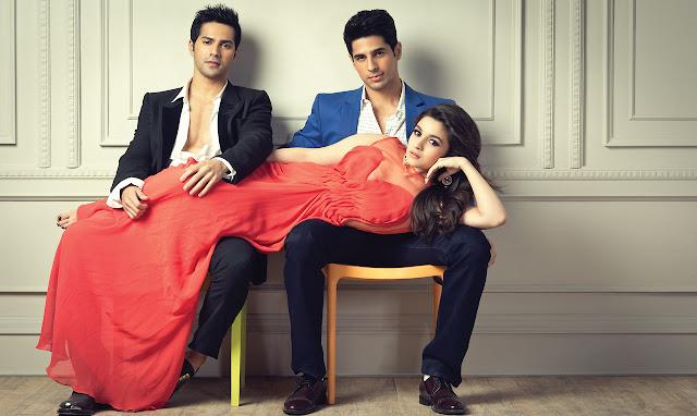 Sidharth Malhotra, Alia Bhatt and Varun Dhawan