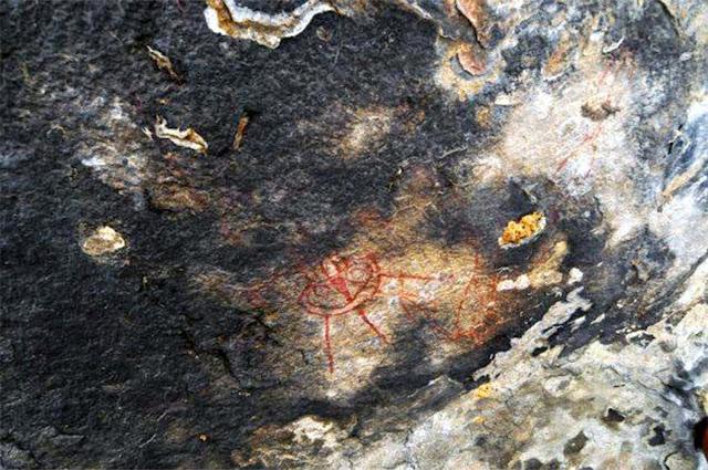 Platillo volador en pintura rupestre