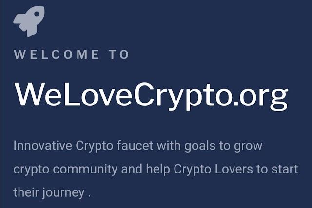 Welovecrypto website থেকে Faucet Claim, PTC And Shortlinks করে ইনকাম করুন