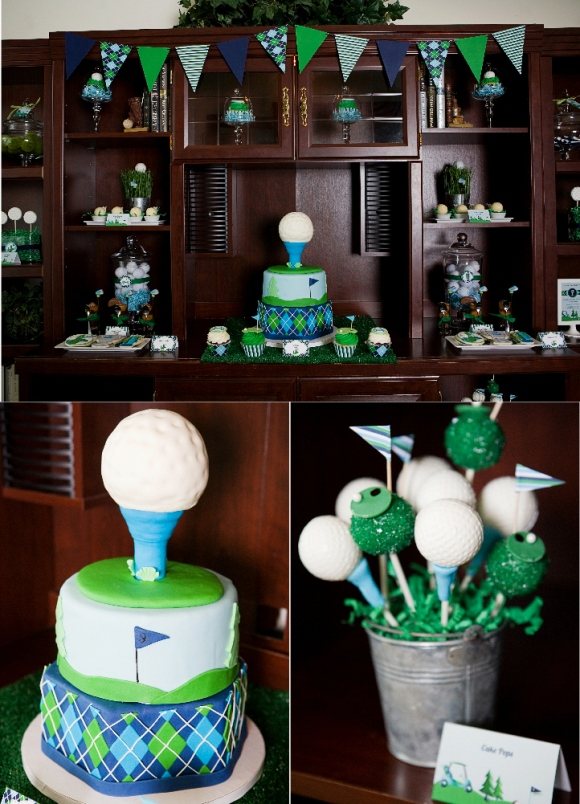Golf Party Ideas and Sweet Treats  - via BirdsParty.com