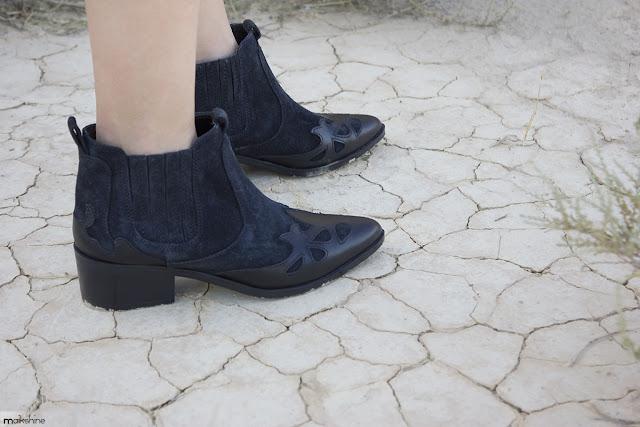 Boho outfit Maikshine with ZARA booties