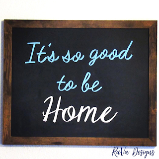 it's so good to be home chalkboard quote art lettering writing