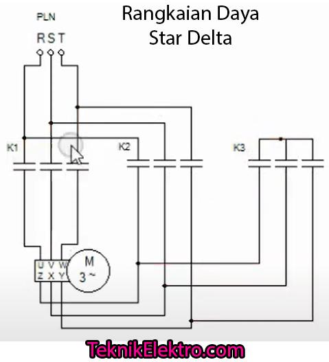 rangkaian daya star delta