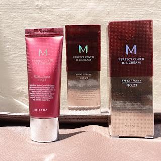 Missha M Perfect Cover BB cream difoto dibawah sinar matahari