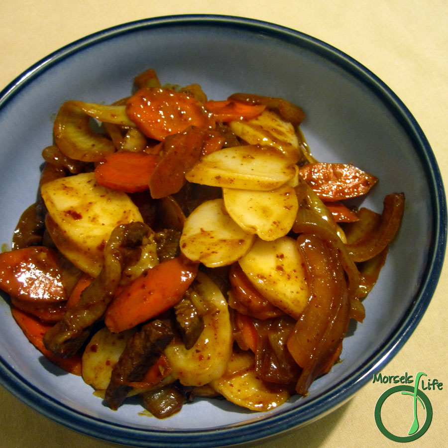 Morsels of Life - Dduk Bok Ki - A fiery yet sweet and peppery Korean beef and rice cake street dish that eats like a meal.