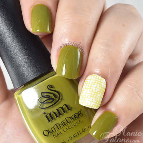 INM Out The Door Nail Lacquer Green Machine Swatch