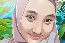 Tutorial membuat vector photo kartun Fatin Shidqia di Photoshop PART 1 (Mata dan Mulut)