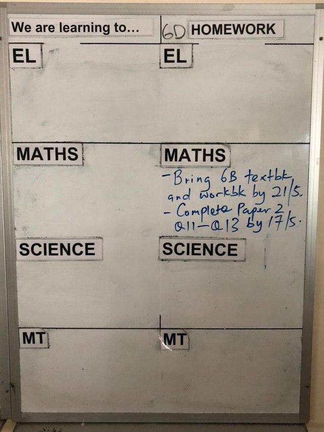 pvps homework board