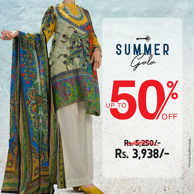 Almirah gala sale summer collection on unstitched article