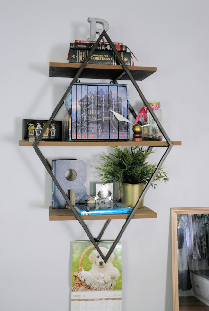 Geometric shelving from Hobby Lobby