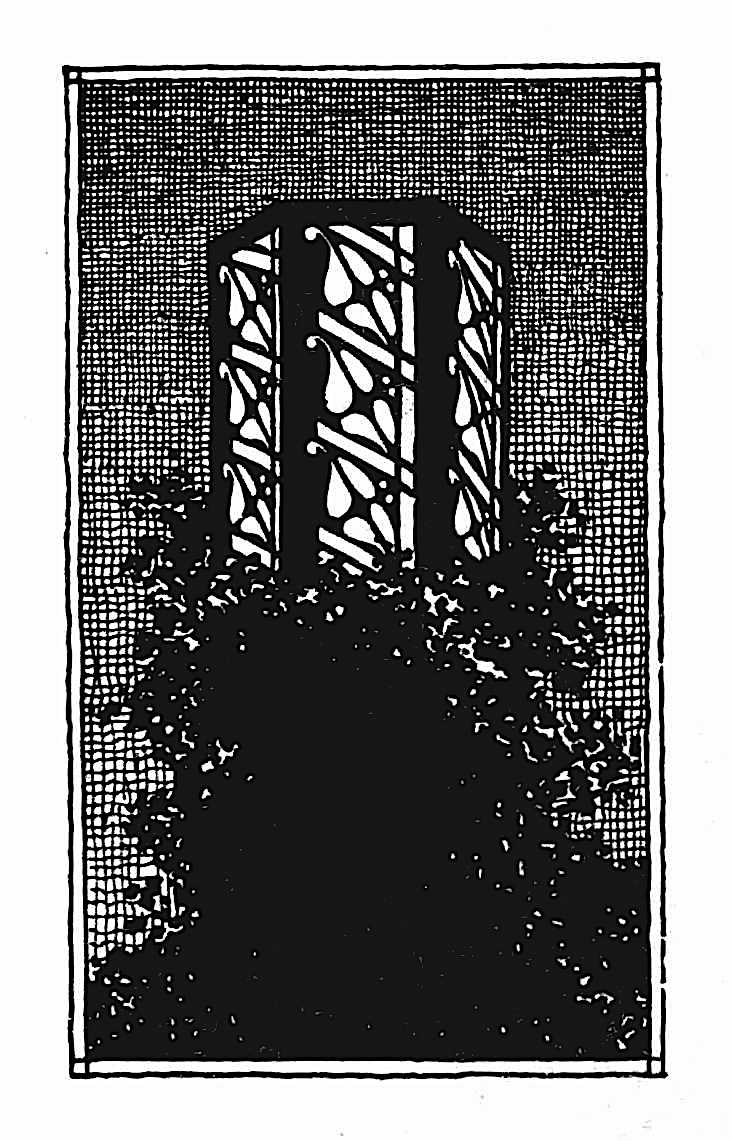 Claude Bragdon 1916 exterior lighting design, an illustration