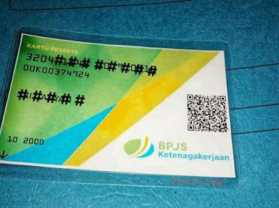 Contoh hasil cetak kartu digital BPJS Ketenagakerjaan