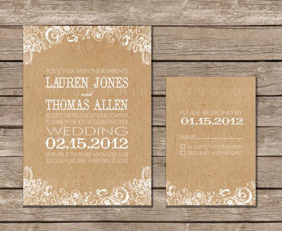 Diy Kraft Paper Wedding Invitations: Lovely Little Life: Things I'm Loving Thursday : Krafty