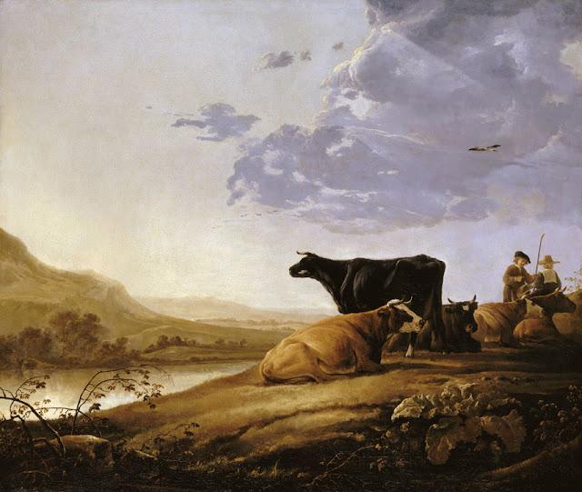 Альберт Кёйп - Пастушок с коровами. ок1650