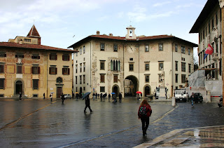 Piazza dei Cavalieri in Pisa's medieval centre