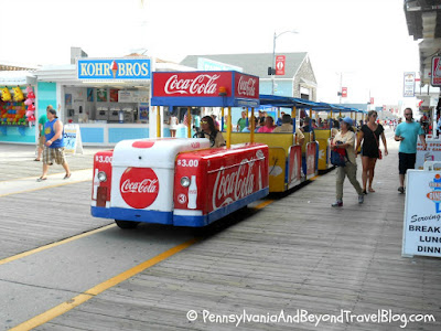 Famous Sightseer Tram Car on the Wildwood Boardwalk