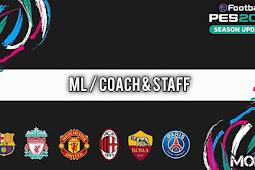 Mods Coach & Staff 2021 (12 Teams) - PES 2021