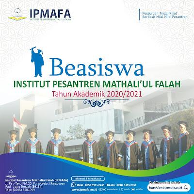 Brosur Informasi Beasiswa IPMAFA Tahun Akademik 2020-2021
