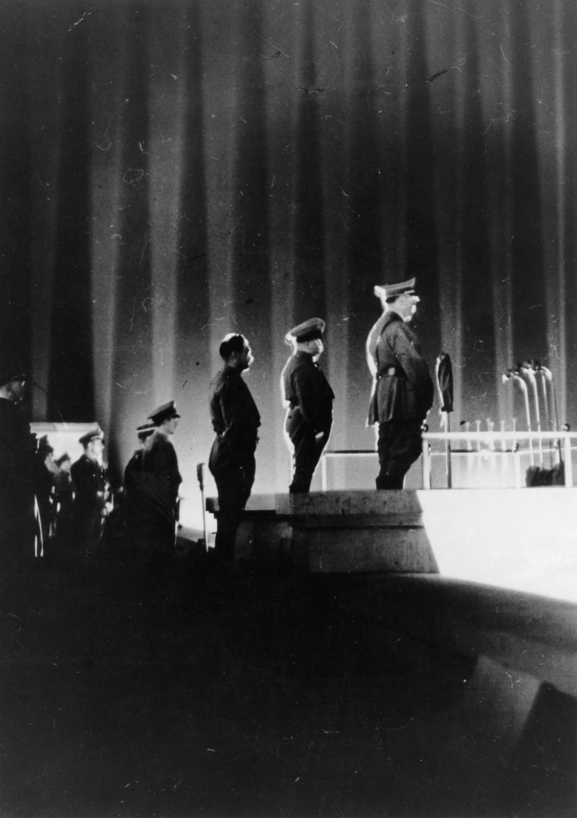 Hitler on the podium.