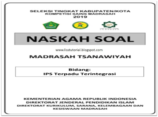 Contoh Soal KSMO IPS MTs Tingkat Kabupaten