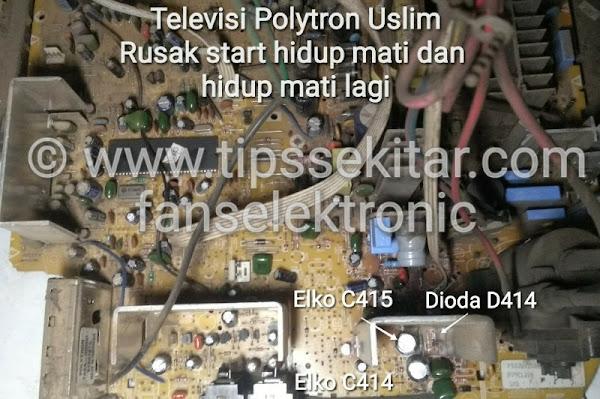 mengatasi tv polytron ps52 rusak lampu berkedip