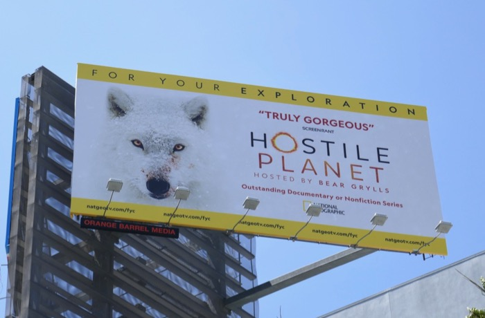Hostile Planet 2019 Emmy FYC billboard