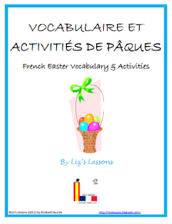 liz 39 s lessons french easter vocabulary and activities. Black Bedroom Furniture Sets. Home Design Ideas