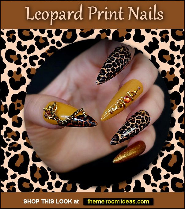 Leopard Print Nails Animal Print Nails wild animal print false nails