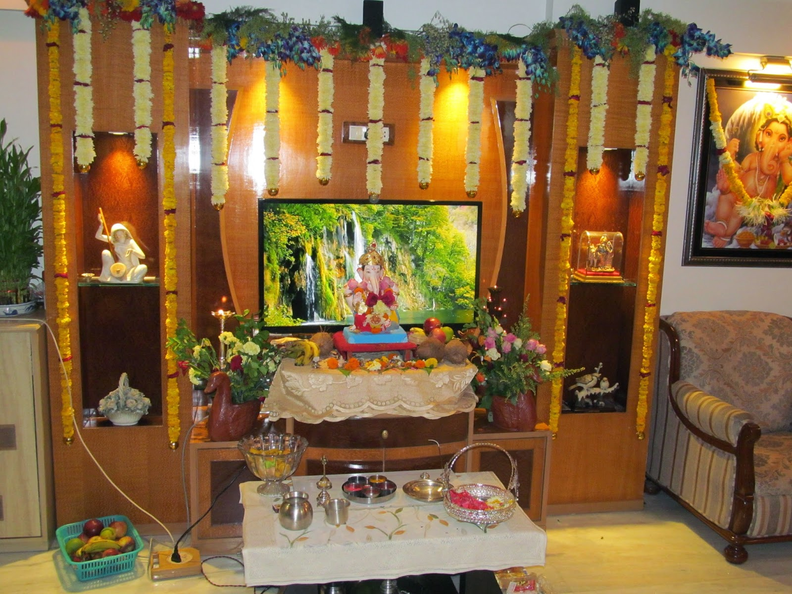 Ganpati Decoration Ideas For Home : Ganpati bappa decoration ideas themes for home