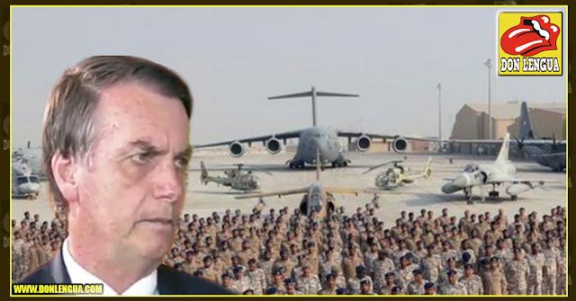Bolsonaro invita a Estados Unidos a instalar base militar cerca de Venezuela