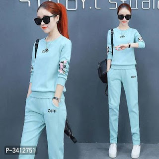 Imported Pretty Polyester Printed Track Suit For Women