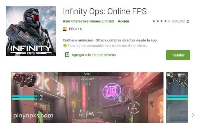 Descargar Infinity Ops: Online FPS en Android