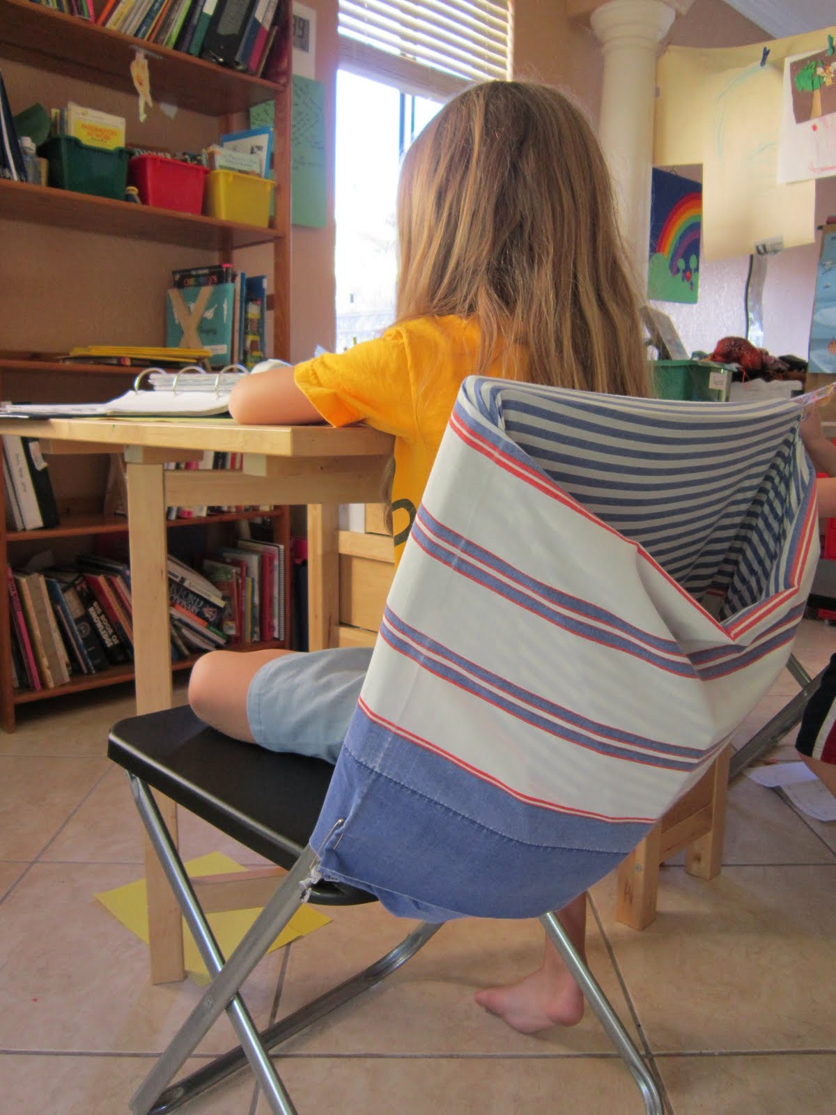diy classroom chair covers chairs for your room let 39s see school notebook pockets