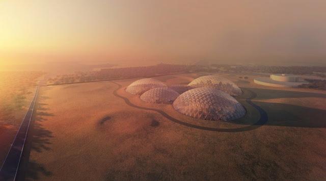 cúpulas Marte